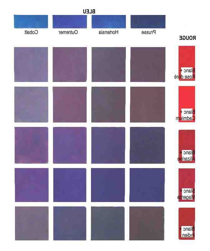 Comment faire de la couleur prune?