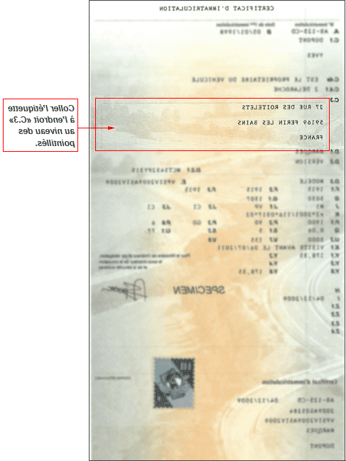 Où aller pour obtenir un document d'immatriculation automobile?