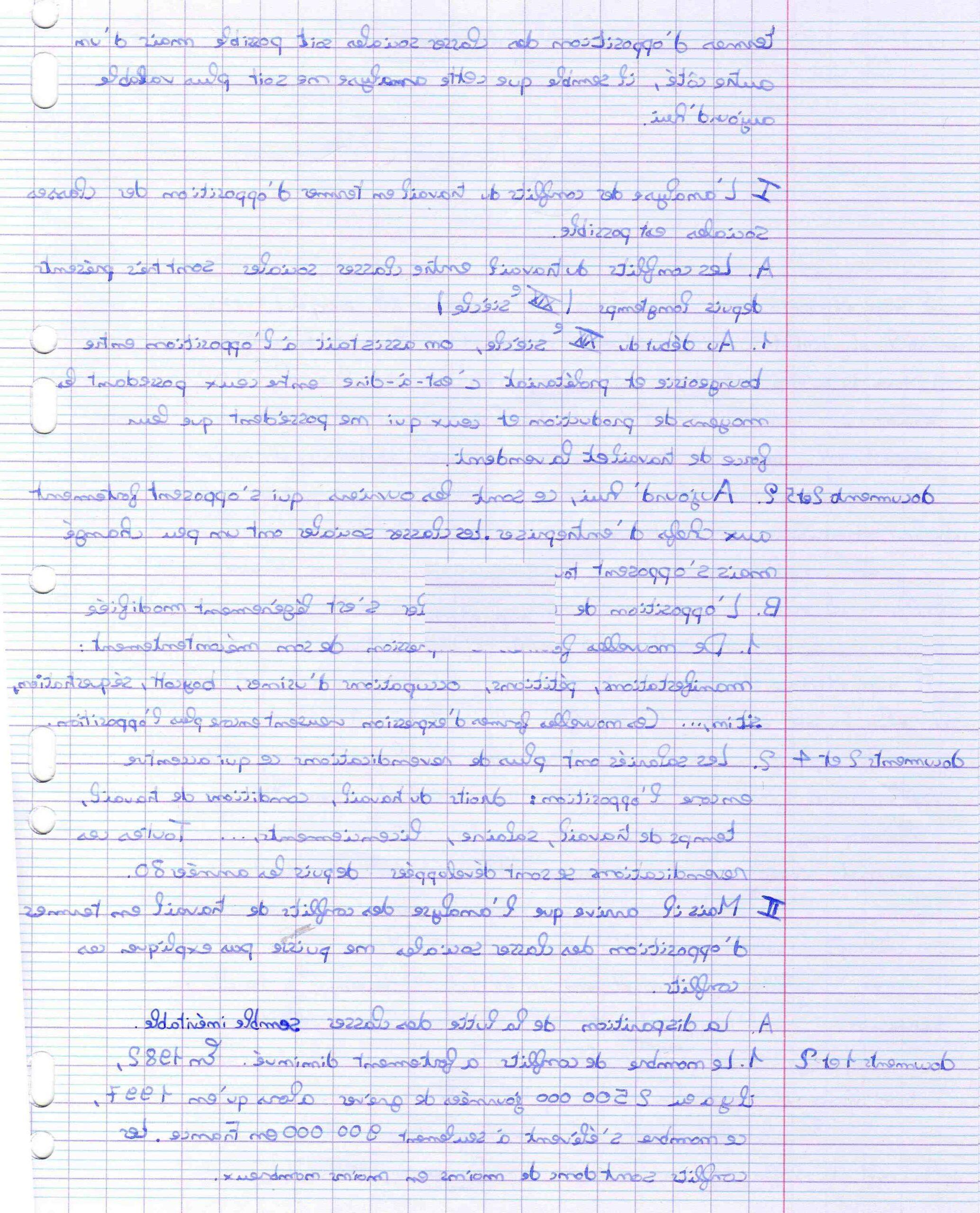 Comment faire un essai de bac français?