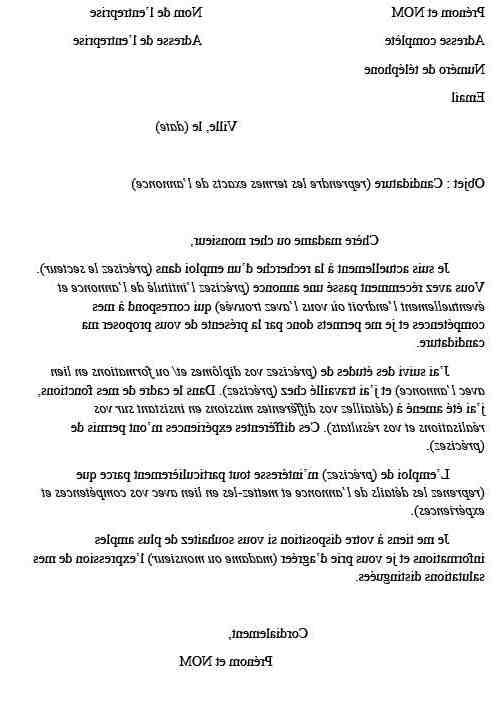 Comment rédiger une lettre officielle en français?