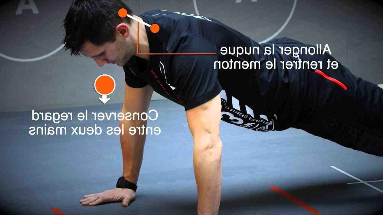 Quels muscles fonctionnent les pompes?