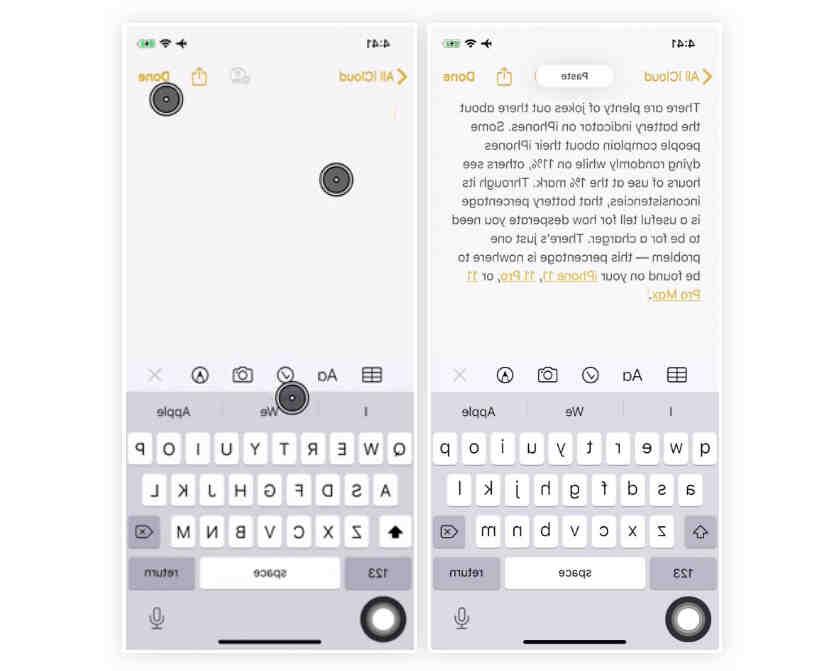 Comment copier coller un téléphone mobile?
