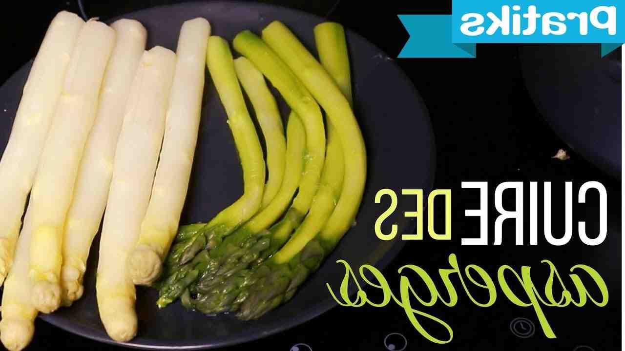 Comment faire cuire de grosses asperges blanches?