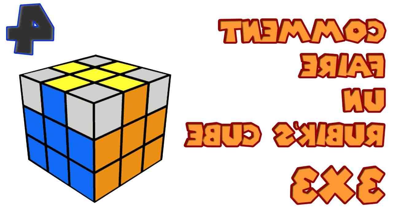 Comment faire la première couronne d'un Rubik's Cube 3x3?