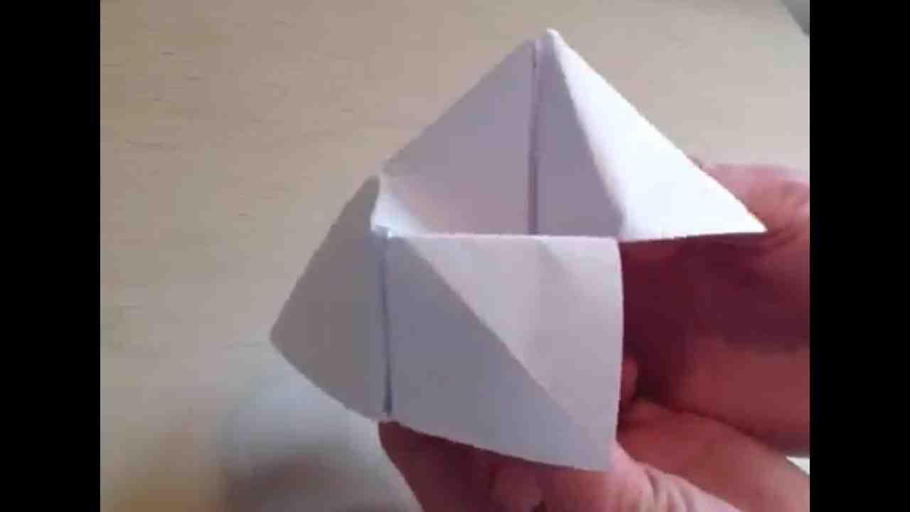 Comment faire une cocotte en papier avec une feuille A4?